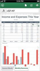 Office Mobile for Android Excel