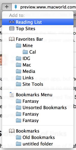 Adding stuff to Safari