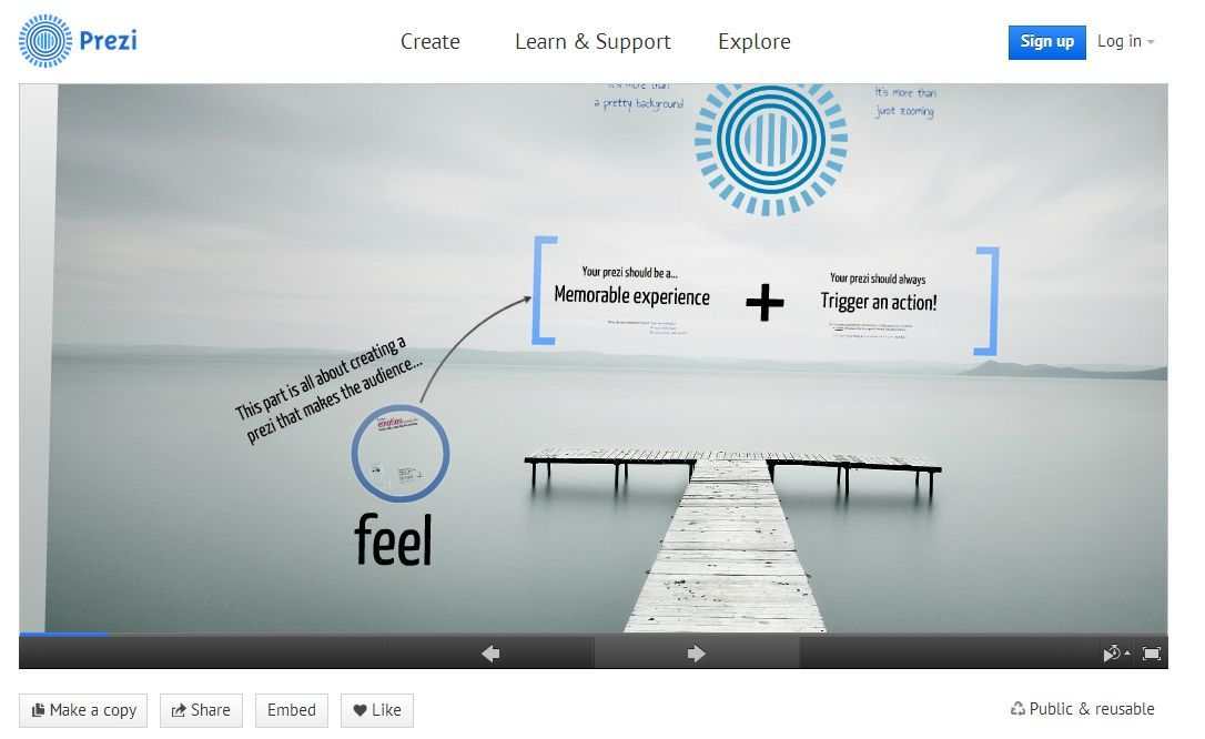 Prezi neatly flips the slideshow concept on its head