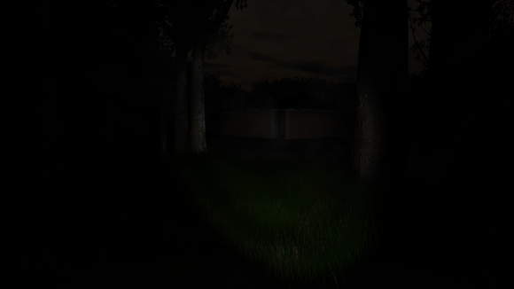 Slenderman The Eight Pages dim light screenshot