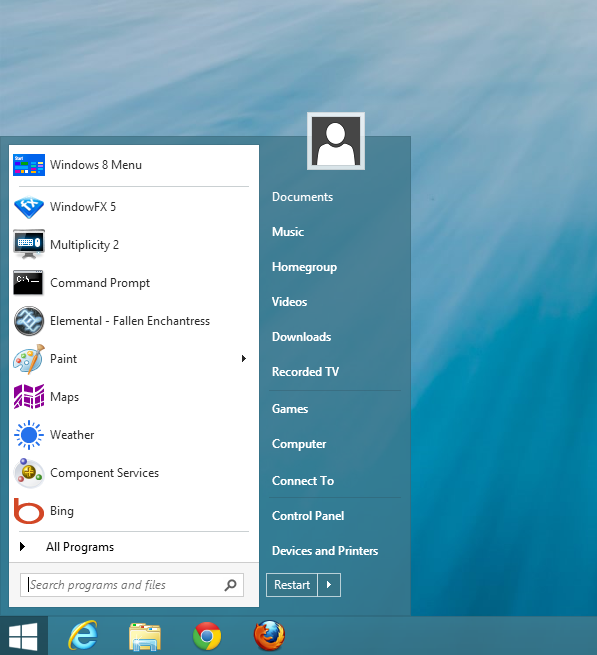 windows 8.1 windows 7 start menu