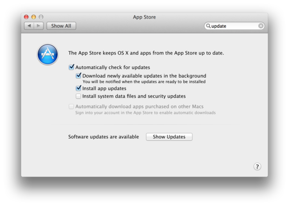 Auto updating apps