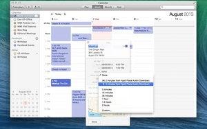 Calendar app full view