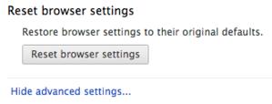 Chrome reset button