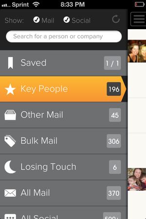 Cloze iOS interface on Sprint iPhone