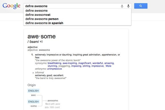 define awesome google beefs up dictionary in search pcworld