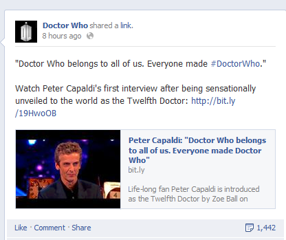 doctor who facebook hashtag
