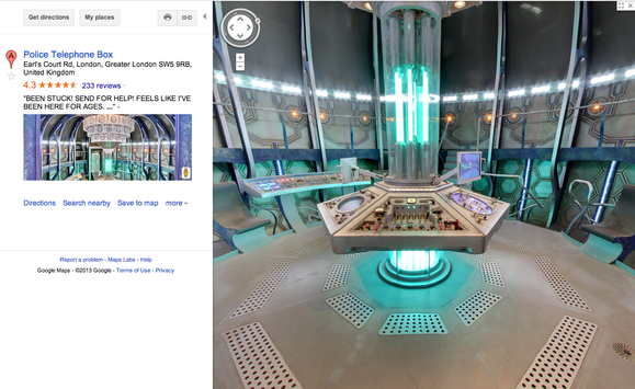Dr. Who, Google Maps