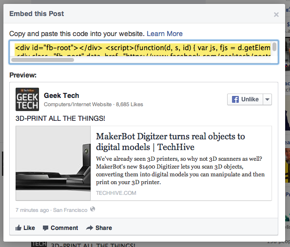 How to embed Facebook posts on your blog | PCWorld