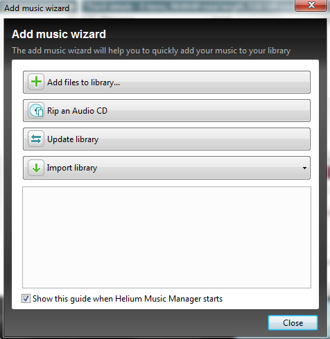 Helium Music Manager 9 add music