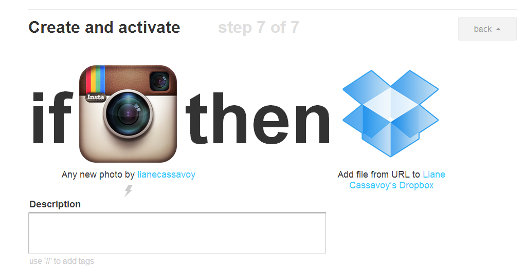 how to add photos from dropbox to instagram