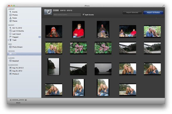 how to import and view images in iphoto macworld