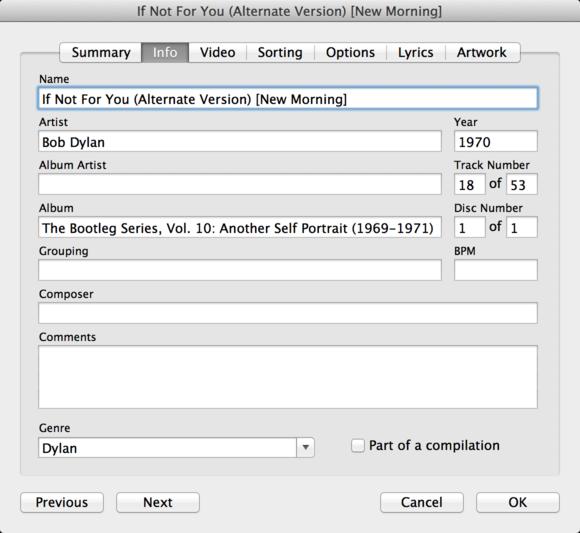 iTunes tagging basics and tips   Macworld