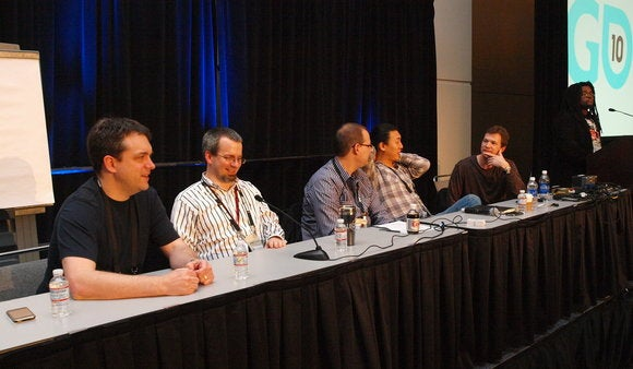 Jason Holtman (Left) at GDC