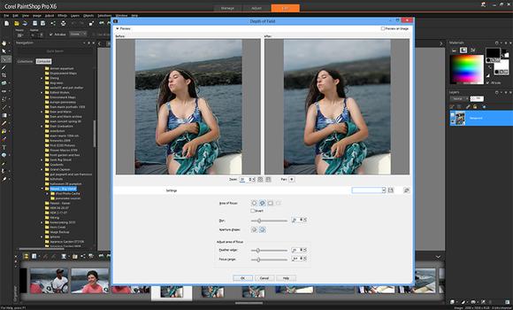 PaintShop Pro X6 depth of field