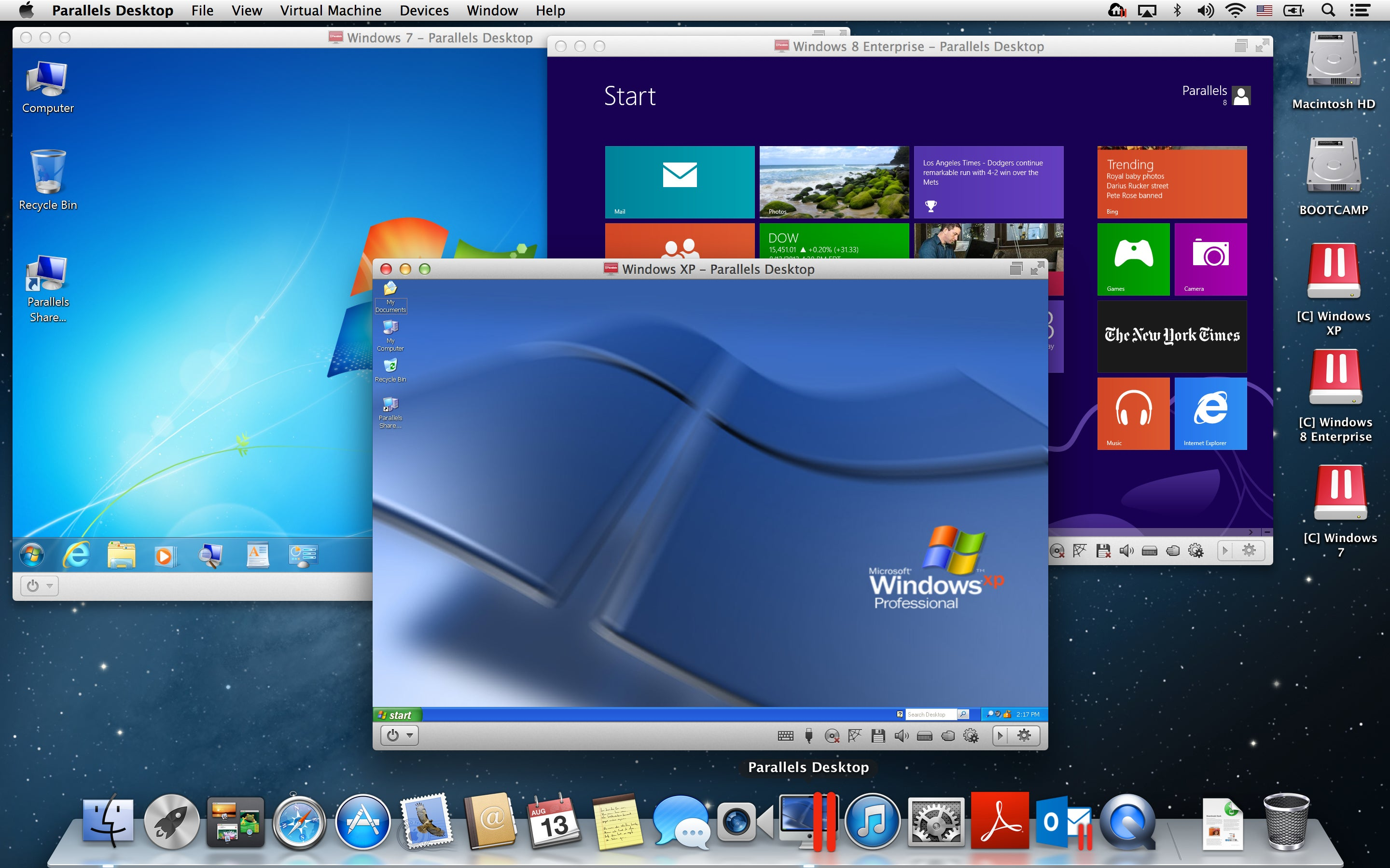 Does parallels 8 support windows xp alternative to windows update xp