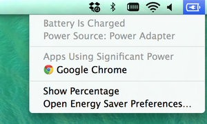 Apps using significant power