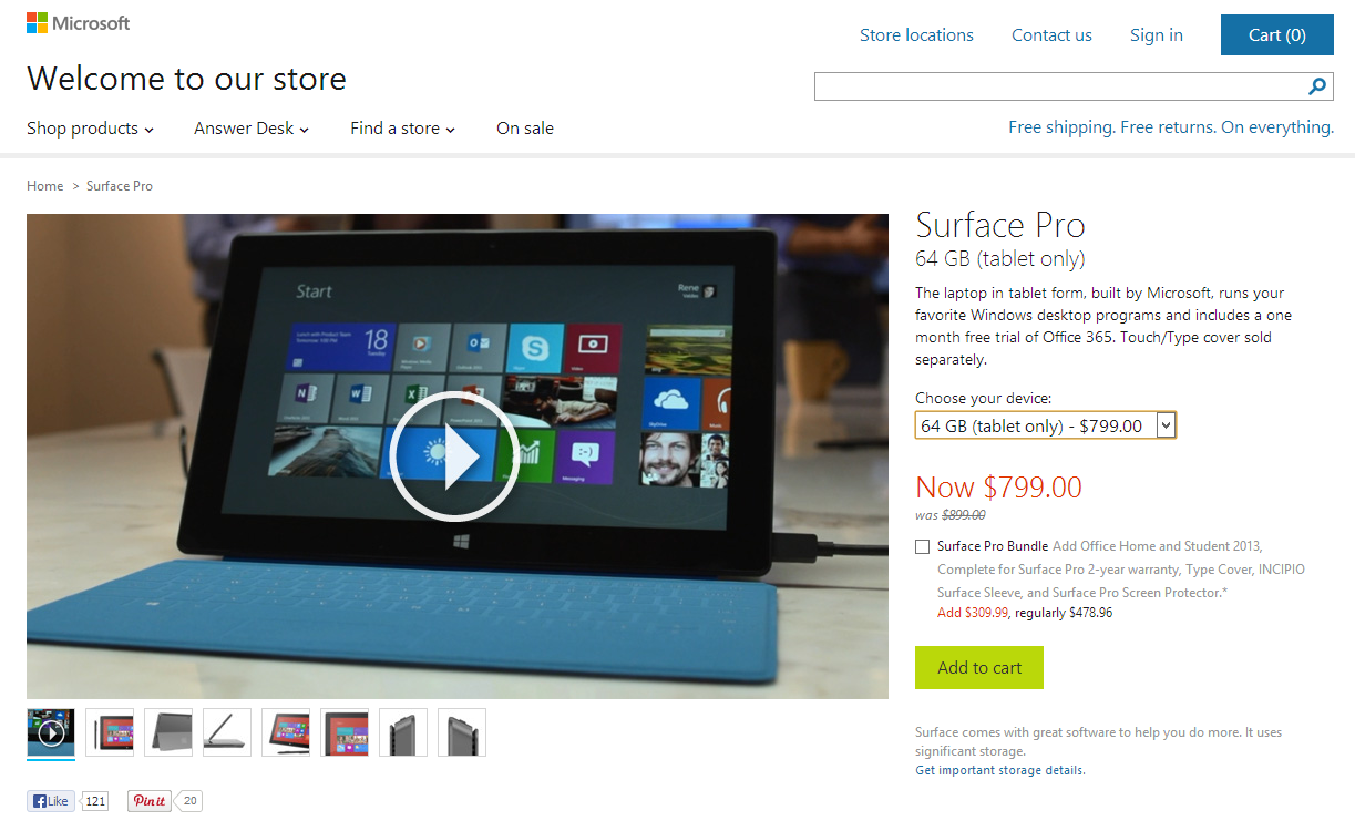 Microsoft slashes Surface Pro tablet prices by $100