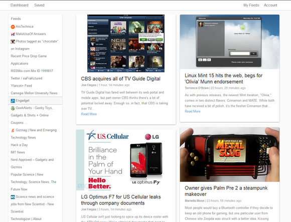 SyndiFeed grid view screenshot