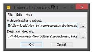 Universal Extractor screenshot