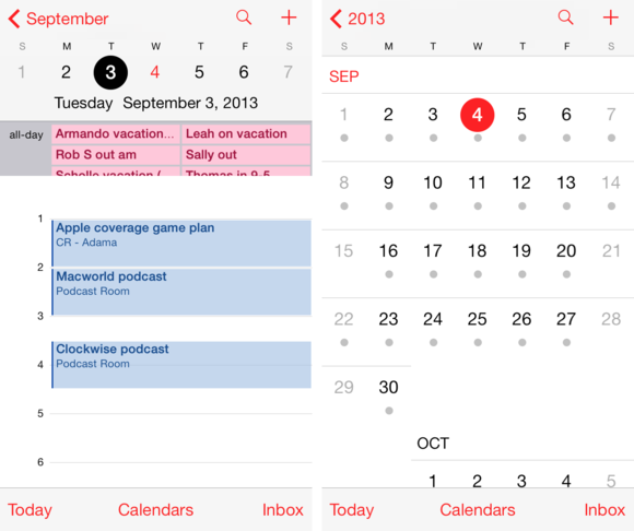 default calendar iphone get to ios 7 calendar and contacts macworld 10487