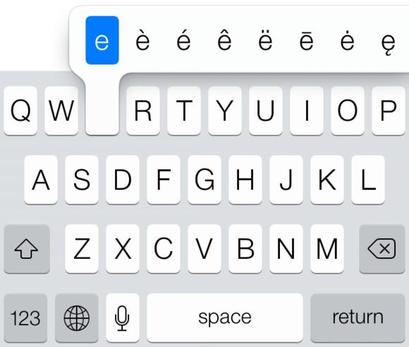 Secrets of the iOS 7 keyboard