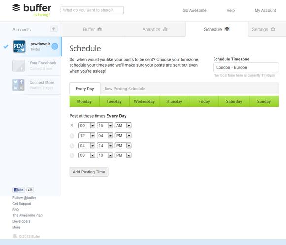 Buffer scheduler