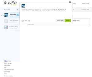 Buffer tweet