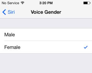 Change Siri's voice.