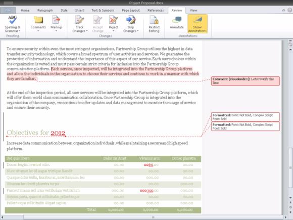 CloudOn Editing Document