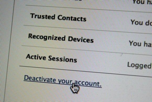 konto ist deaktiviert