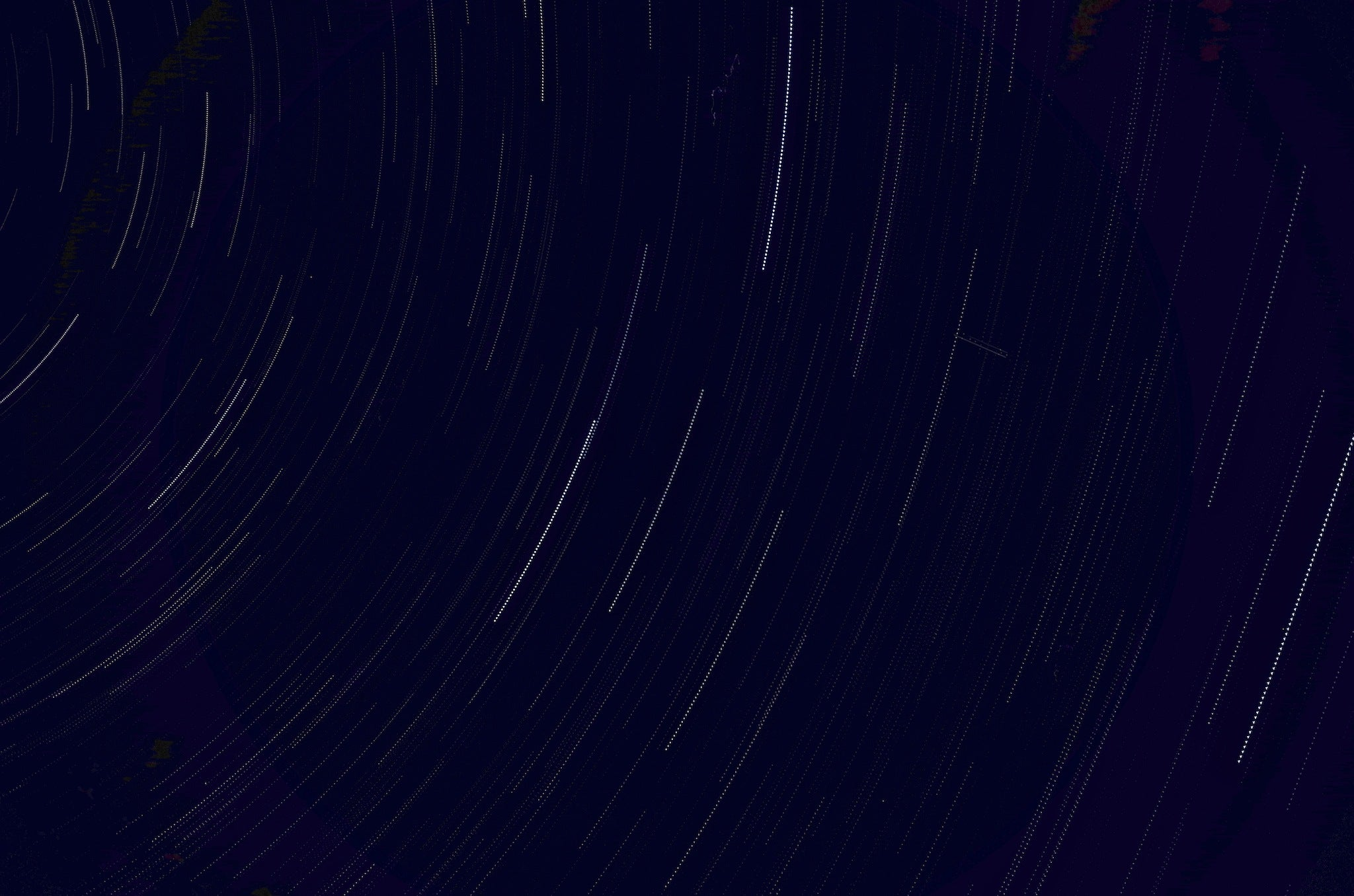 Star trails recorded with the interval composite setting.