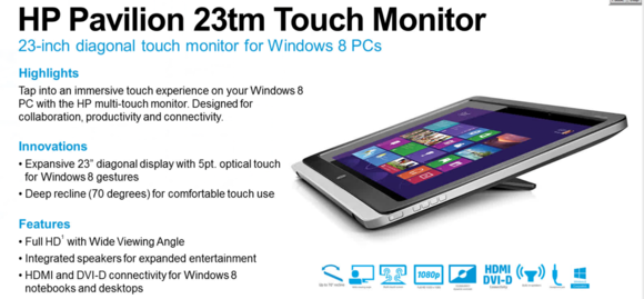 HP Pavilion 23-inch touch monitor