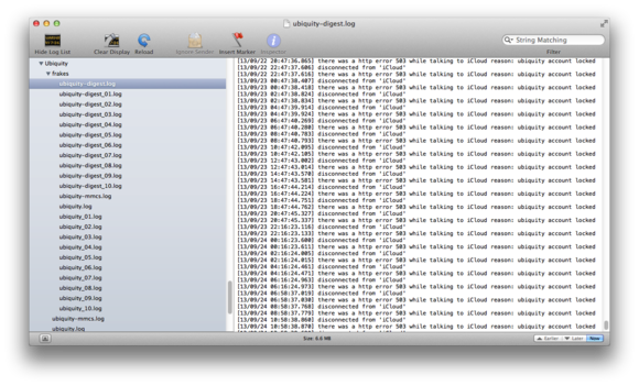 iCloud-sync errors in console