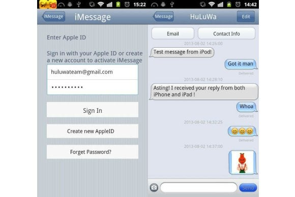 Be wary of the dubious 'iMessage chat' Android app | PCWorld