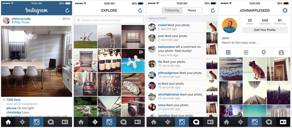Instagram For Ios 7 You Call That A Redesign Pcworld