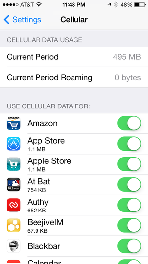 limit data usage iphone ios 7 review radical redesign is more than skin 15639