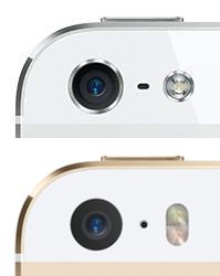 iPhone 5 and 5s cameras