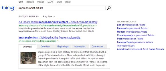 Bing Impressionists