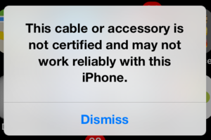 Unsupported iOS accessory