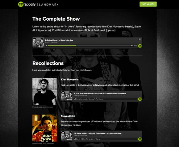 Spotify Landmark Nirvana