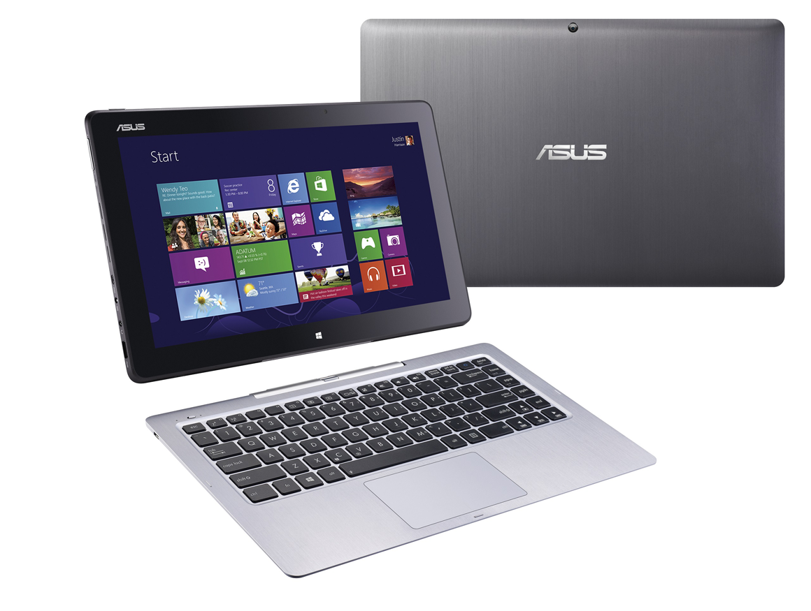 Asus demos two new zenbooks three transformers and an for Notebook tablet
