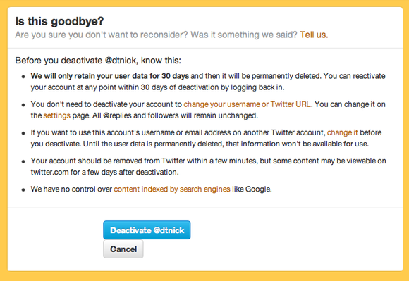 how to delete your twitter account pcworld