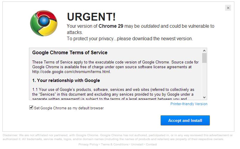 chrome stop fake warnings google