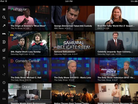 Yahoo Screen on iPad