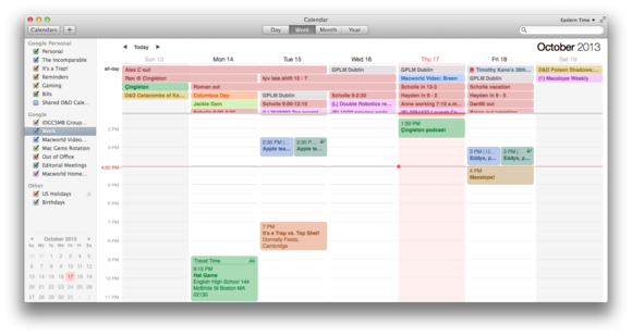 Calendar Planner Osx : Get to know os mavericks calendar macworld