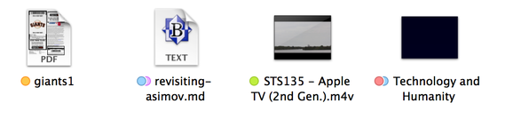 Tagged icons in Mavericks