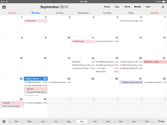 Readdle Calendars 5 iPad month view