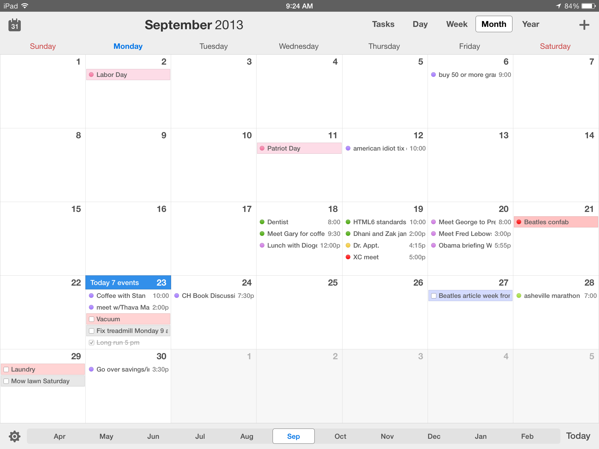 Weekly Calendar View For Iphone Scrollable : Calendars for ios review better than calendar on all