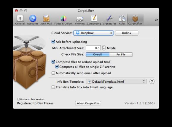 CargoLifter settings